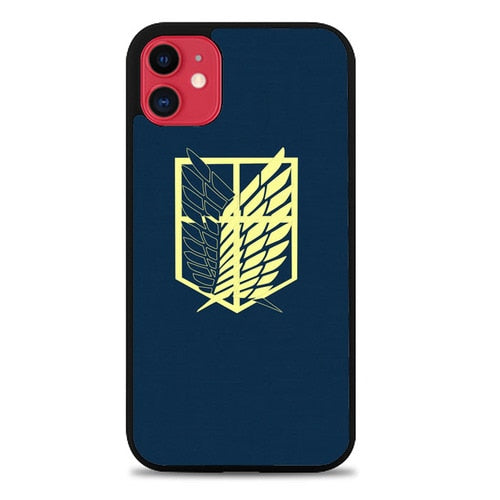 Custodia Cover iphone 11 pro max Attack On Titan Simple Insignia Case