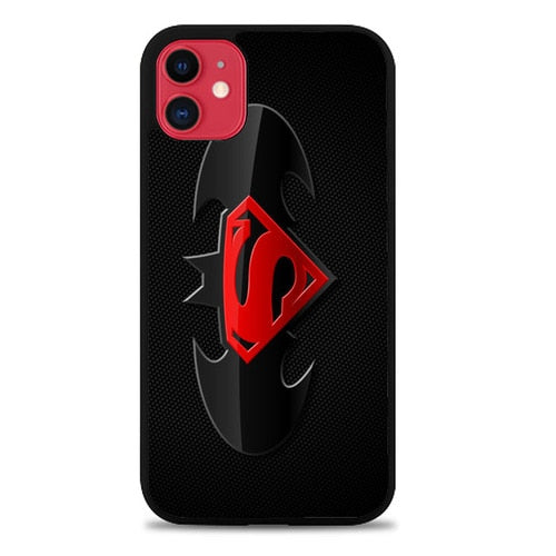 Custodia Cover iphone 11 pro max BATMAN AND SUPERMAN LOGO Case