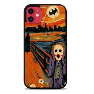 Custodia Cover iphone 11 pro max SCREAM BATMAN and JOKER Case