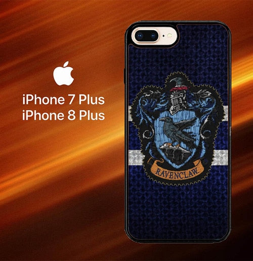 Custodia Cover iphone 7 plus 8 plus Harry Potter Knit Ravenclaw Wall Crest Logo F0185 Case