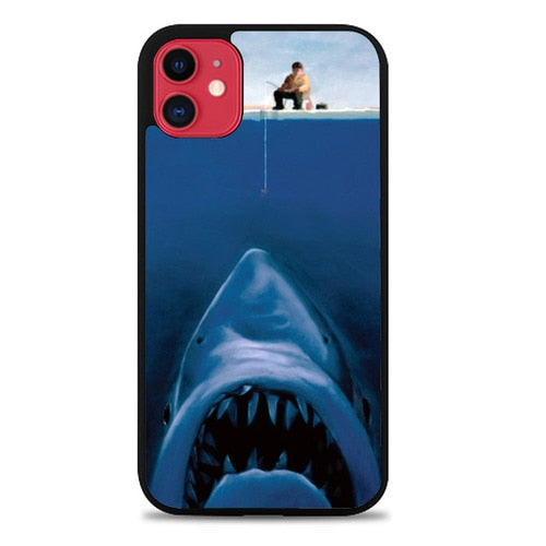 Custodia Cover iphone 11 pro max Funny Fishing Shark Case