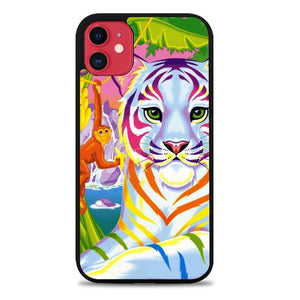 Custodia Cover iphone 11 pro max Neon Tiger And Monkey Case