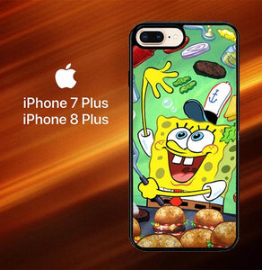 Custodia Cover iphone 7 plus 8 plus Spongebob Squarepants krabby patty Z0046 Case