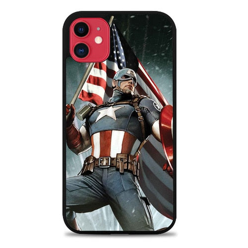 Custodia Cover iphone 11 pro max Captain America Cover Z0071 Case