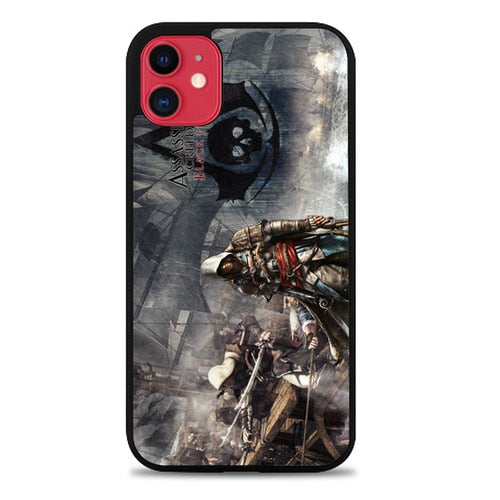 Custodia Cover iphone 11 pro max Assassins Creed 4 Black Flag Z0120 Case