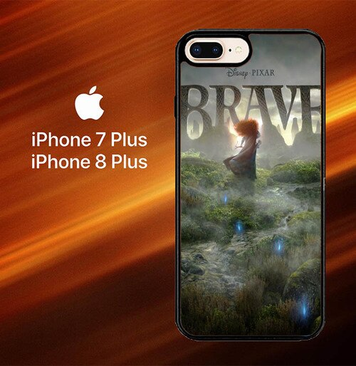 Custodia Cover iphone 7 plus 8 plus Brave Disney pixar Z0253 Case