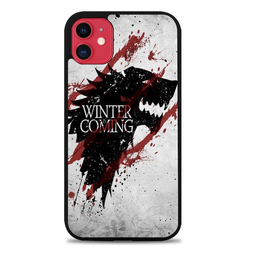 Custodia Cover iphone 11 pro max Winter is Coming House Stark Logo Z0308 Case