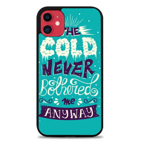 Custodia Cover iphone 11 pro max Frozen Tyopgraphy Quote Z0323 Case