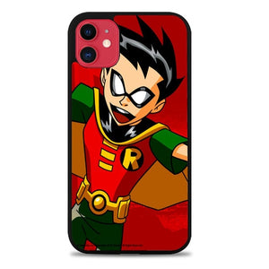 Custodia Cover iphone 11 pro max boy wonder robin cartoon Z0495 Case