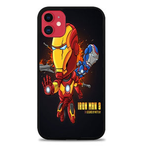 Custodia Cover iphone 11 pro max iron man cartoon design Z0923 Case