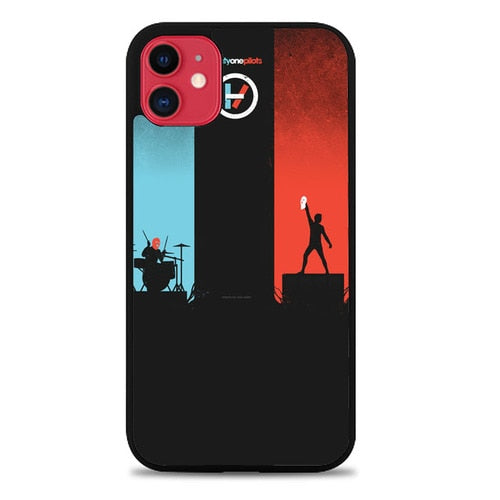 Custodia Cover iphone 11 pro max TWENTY ONE PILOTS RED AND BLUE Z0984 Case