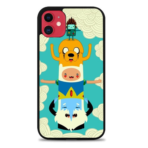 Custodia Cover iphone 11 pro max ADVENTURE TIME ART TOTEM Z1127 Case