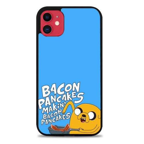 Custodia Cover iphone 11 pro max ADVENTURE TIME BACON PANCAKES Z1189 Case