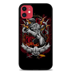 Custodia Cover iphone 11 pro max Harry Potter Crest Gryffindor Z1256 Case