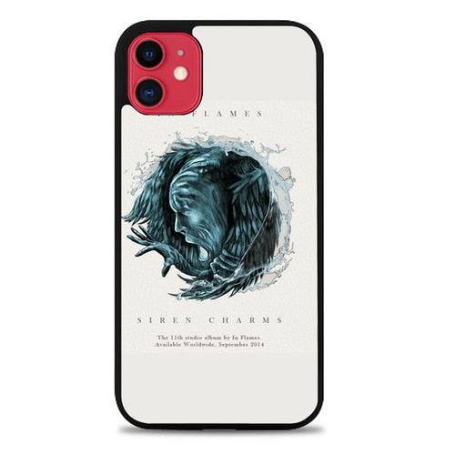 Custodia Cover iphone 11 pro max in flames siren charms Z1279 Case