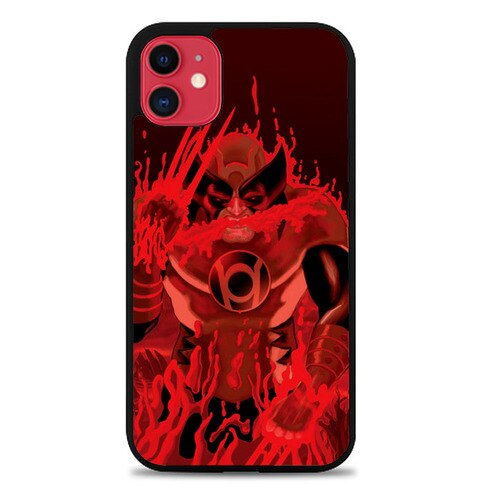 Custodia Cover iphone 11 pro max Red Lantern Wolverine Z1306 Case