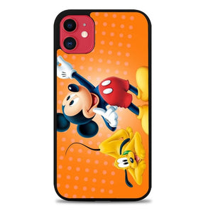 Custodia Cover iphone 11 pro max Micky mouse and dog Z1311 Case