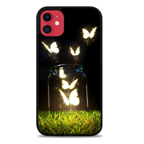 Custodia Cover iphone 11 pro max Glowing Butterflies Z1366 Case