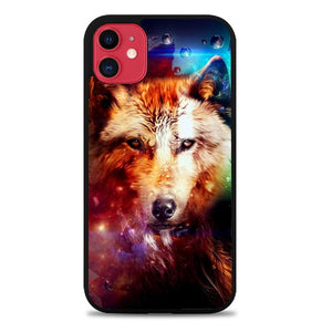 Custodia Cover iphone 11 pro max wolf abstract Z1431 Case