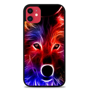 Custodia Cover iphone 11 pro max wolf glow line Z1432 Case