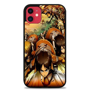 Custodia Cover iphone 11 pro max Attack on Titan shingeki no kyojin Z1502 Case