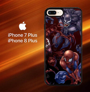 Custodia Cover iphone 7 plus 8 plus Spiderman Venom Carnage Back Z1619 Case