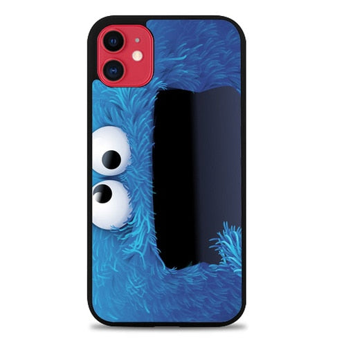 Custodia Cover iphone 11 pro max sesame street cookie monster Z1624 Case