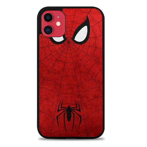 Custodia Cover iphone 11 pro max spiderman face and logo Z1661 Case