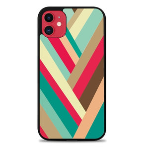 Custodia Cover iphone 11 pro max colorful geometric peach Z1705 Case