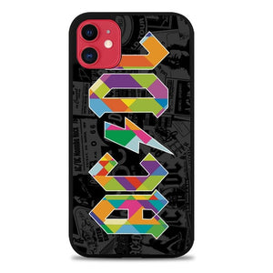 Custodia Cover iphone 11 pro max ac dc logo geometric Z2450 Case