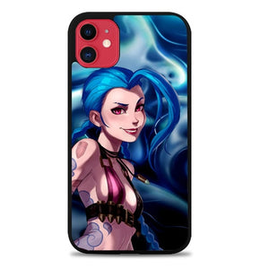 Custodia Cover iphone 11 pro max league of legends jinx Z2572 Case