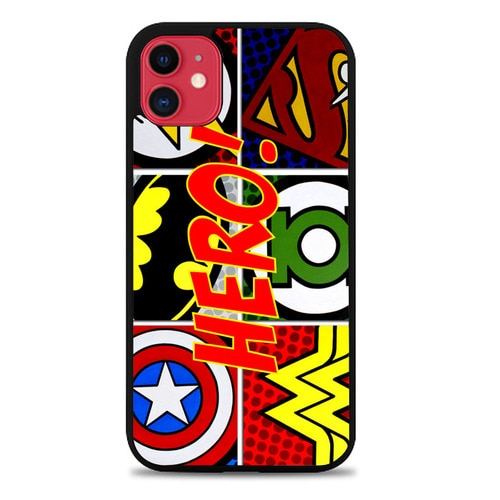Custodia Cover iphone 11 pro max Pop Comic Super Hero Logo Z2840 Case