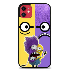 Custodia Cover iphone 11 pro max Minions Face Yellow And Purple Z2879 Case