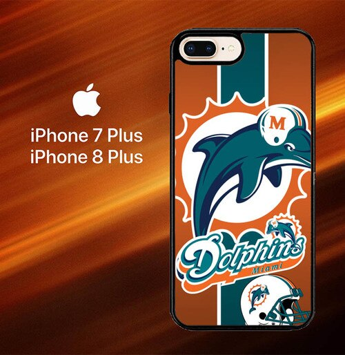Custodia Cover iphone 7 plus 8 plus Miami Dolphins Z2995 Case