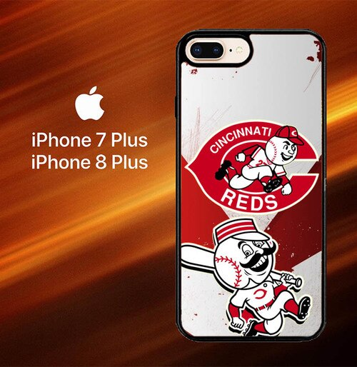 Custodia Cover iphone 7 plus 8 plus Cincinnati Reds Z3201 Case