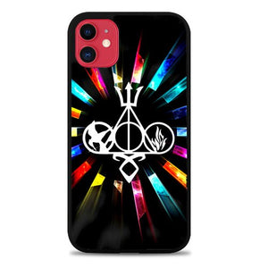 Custodia Cover iphone 11 pro max Harry Potter Divergent City of Bones Hunger Games logo Z3373 Case