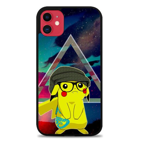 Custodia Cover iphone 11 pro max Hipster Pikachu Z3422 Case