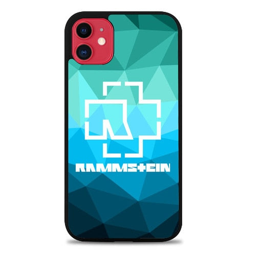 Custodia Cover iphone 11 pro max Rammstein Logo Blue Z3539 Case