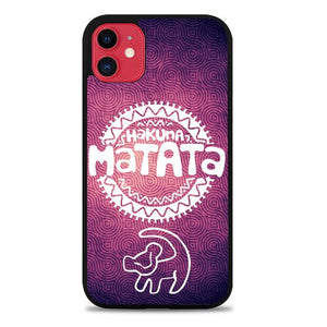 Custodia Cover iphone 11 pro max hakuna matata symbol Z3679 Case