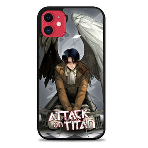 Custodia Cover iphone 11 pro max levi attack on titan Z3646 Case
