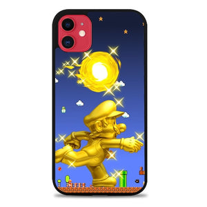 Custodia Cover iphone 11 pro max Golden Mario Z3649 Case