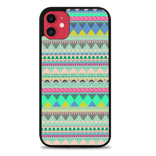 Custodia Cover iphone 11 pro max Pastel Aztec pattern Z3832 Case
