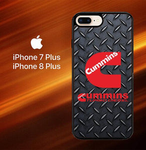 Custodia Cover iphone 7 plus 8 plus cummins turbo diesel logo Z3883 Case
