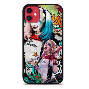 Custodia Cover iphone 11 pro max harley quinn suicide squad Z3958 Case