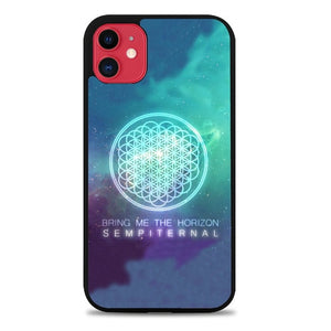 Custodia Cover iphone 11 pro max bring me the horizon logo sempiternal Galaxy Z3974 Case