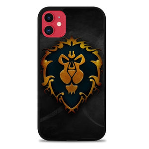 Custodia Cover iphone 11 pro max World of Warcraft Alliance Gold Logo Z4196 Case