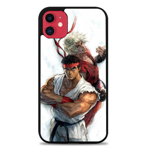 Custodia Cover iphone 11 pro max Street Fighter Ryu VS Ken Z4373 Case