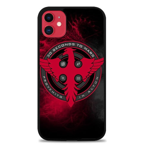 Custodia Cover iphone 11 pro max 30 seconds to mars logo Z4419 Case