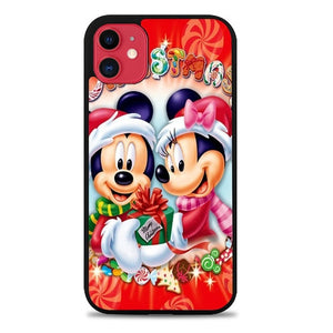 Custodia Cover iphone 11 pro max christmas mickey mouse Z4450 Case