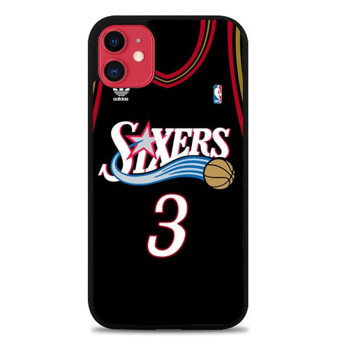 Custodia Cover iphone 11 pro max allen iverson sixers jersey Z4482 Case
